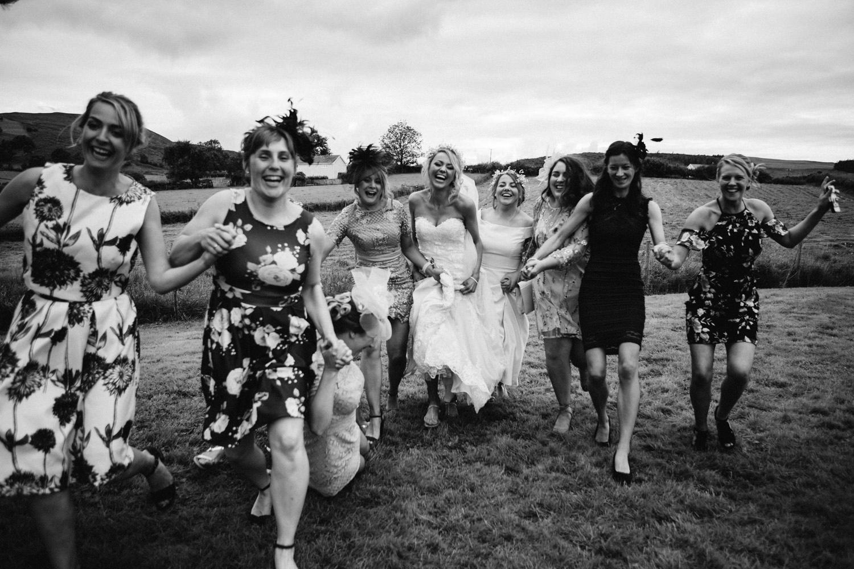 bridesmaids running