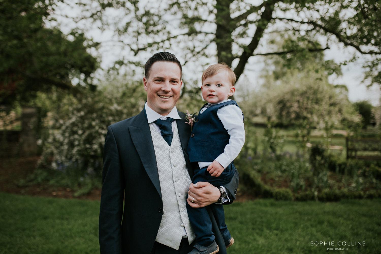 groomsman and little boy