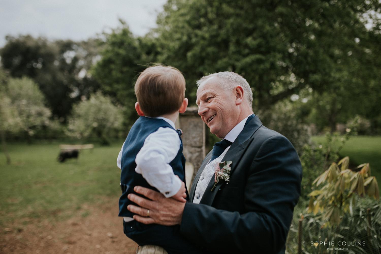 little boy and granddad