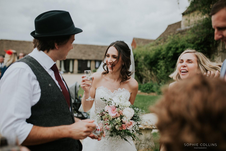 bride laugh ing