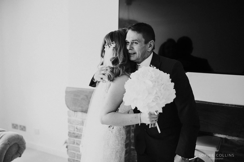 brides dad crying