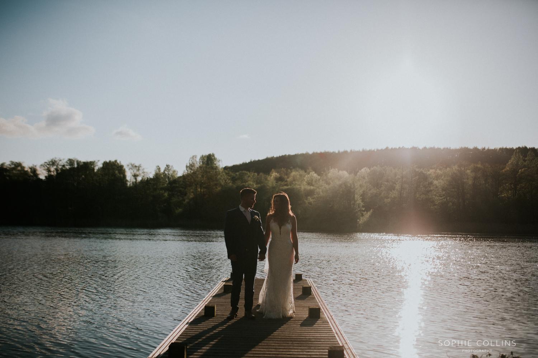 walking by the lake